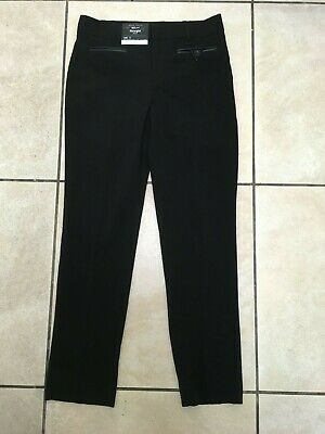 New Look 915 Girls School PU Trim Straight Trousers Age 11 Years BNWT Black