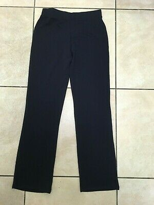 George Asda Girls School Straight Leg Jersey Trousers Age 12-13 Years BNWT Navy