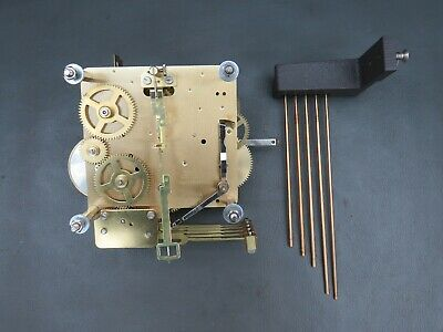 Vintage Hermle FHS 341-021A 45 cm clock movement with chimes for repair / spares