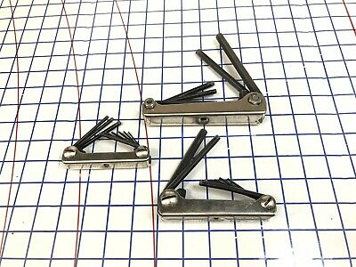 Snap-On Tools Allen Hex Wrench Lot, Folding Combination,  AW9-K AW5K AWEM7K