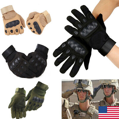 Men Tactical Hard Knuckle Full Finger Gloves Military Army Bicycle Shooting Hot