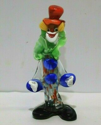 MURANO Art Glass CLOWN Multi Coloured Ornament - 226