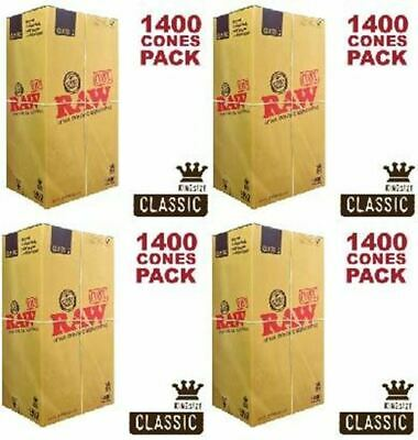 Raw King Cone 5,600 Count Pre-rolled Cones 110/26 - MASTER PACK 4 x 1400ct Boxes