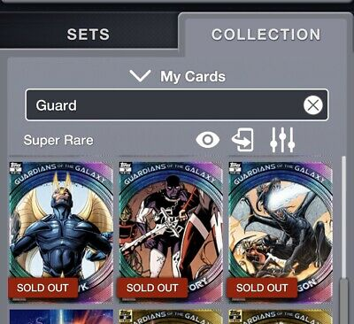 Set of 13 plus award Topps MARVEL COLLECT Digital Guardians of the Galaxy