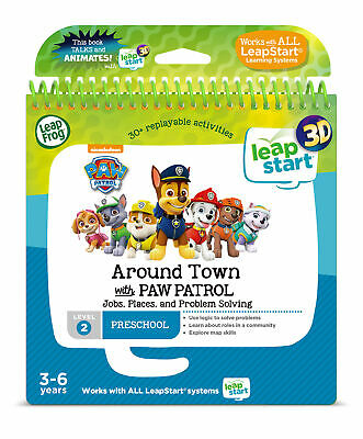 LeapFrog Leapstart Level 2 Around Town With Paw Patrol Activity Book 3D