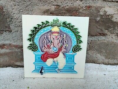 1940s Lord Ganesha Nouveau Embossed Architecture / Furniture Tile , Japan