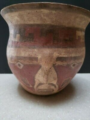 Authentic Pre-Columbian Nazca Human Effigy Bowl