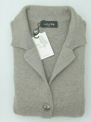 Giacca Maglia Donna 100% Cashmere Made In Italy