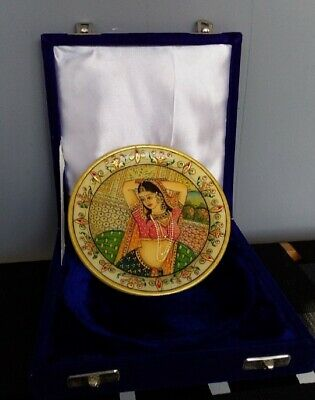 Antique Gold Plated Marble Plate