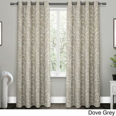 Ivory Curtains Medieval Victorian Petals Window Drapes 2 Panel Set 108x90 Inches