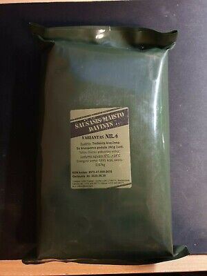 MRE Lithuanian Army Food  Military Ration Daily Pack Survival  Hiking Camping