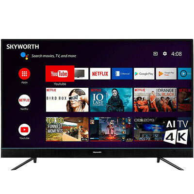 """Skyworth 55"""" 4K Ultra HD HDR Android Smart TV w/ 3 x HDMI & Google Assistant"""