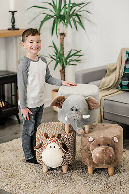 New Animal Ottoman Padded Footstool Cushion Rest Seat Pouffe Stool Bench Chair