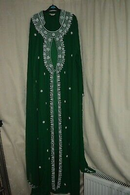 Ladies GREEN size Large -  stitched Indian/ Pakistani/ ABAYA shalwar kameez