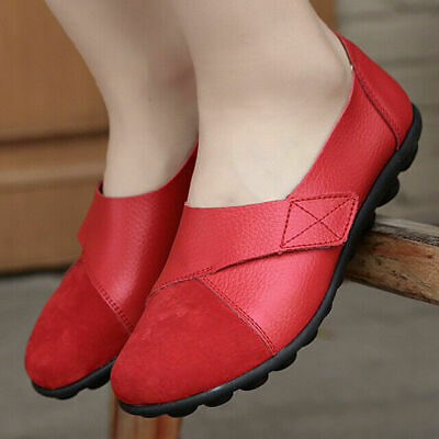 Women Sneakers Premium Orthopedic Leather Slip On Loafer Patchwork Casual Shoes