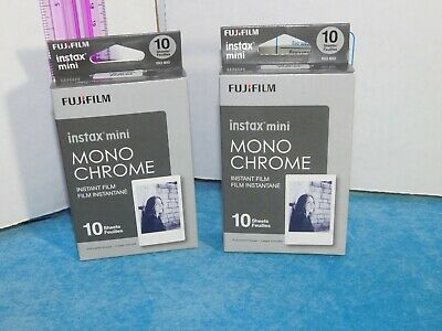 Fujifilm Instax mini instant film mono chrome 2 boxes with 10 sheets ea = 20