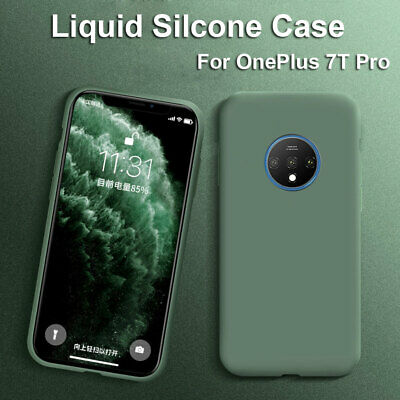 Slim Liquid Silicone Gel Case for OnePlus 7T 7 Pro 6 6T Shockproof Rubber Cover