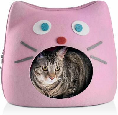 Cat Hide Out Cube Bed 13 x 12 Inch Removable Pillow Makes Cat Feel Safe