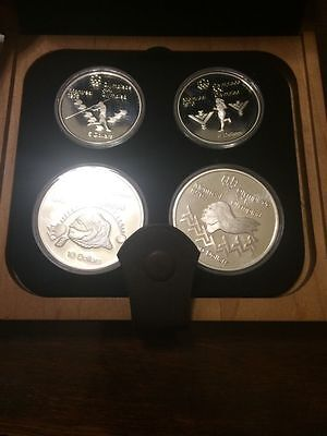Canada Olympic Coin Proof Set 1976  2x $5 And  2x $10 Silver