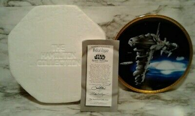 STAR WARS Hamilton Collection REBEL MEDICAL FRIGATE Space Vehicle Plate Ltd # Ed