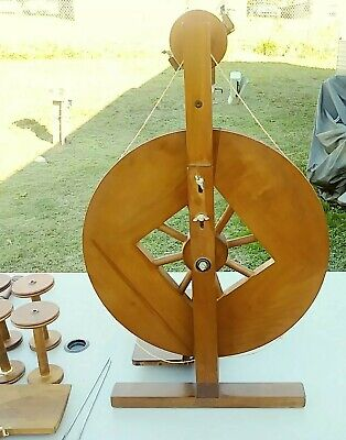 Ashford Vintage Spinning Wheel And Tools