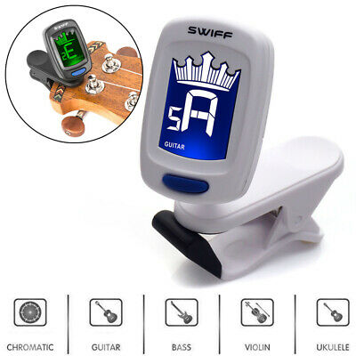 Digital LCD Clip-on Electronic Chromatic Tuner For Guitar Bass Ukelele Violin