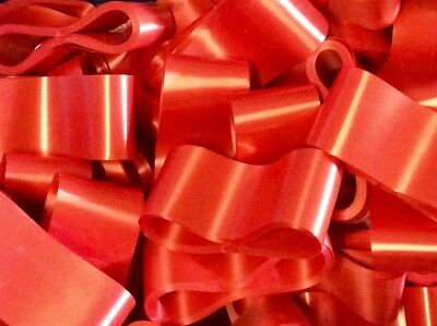 10 CHRISTMAS RED FLORIST RIBBONS WREATHS CRAFTS GIFTS WRAPPING DECORATIONS 9m EA