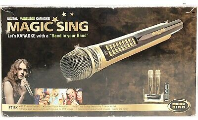 Magic Sing ET18K System w/ 2 Wireless Mics Set, Mint Condition!