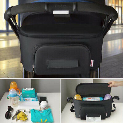 Travel Organizer Baby Stroller Bag Accessories Pram Basket Storage Soild Hanging