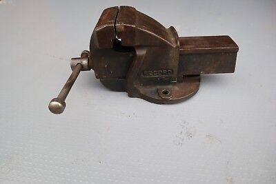 "VINTAGE RECORD No 1 ENGINEERS BENCH VICE, 3"" JAWS  PATENT No 196858/23"