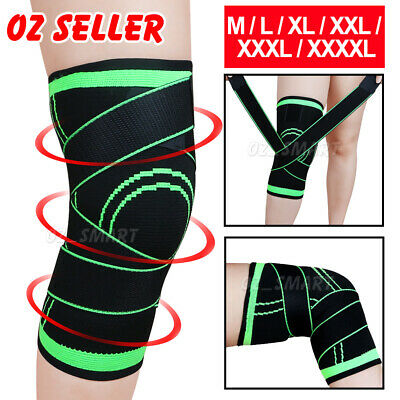 3D Knee Support Brace Compression Sleeve Arthritis Pain Relief Gym Sport Running