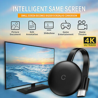 Chromecast 4K HD HDMI Media Streaming Player for  Home Monitor Projectors