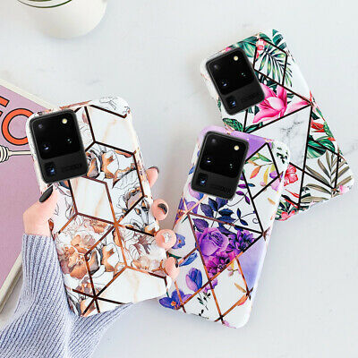 Splice Electroplate Floral Soft Case Cover For Samsung Galaxy A70 A50 Note 10 S9