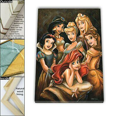 "16""x22""Disney HD Canvas print Framed Home Decor Picture Room Wall art Poster"
