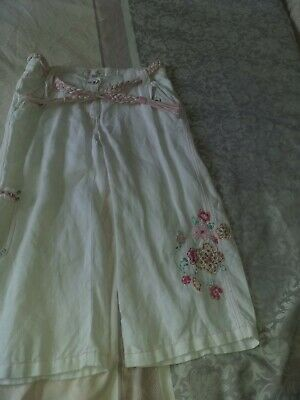 Girls Cropped Summer Trousers Age 11