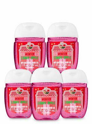 Bath and Body Works Set of 5 Winter Candy Apple Hand Sanitizer Anti Bacterial