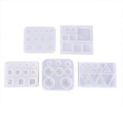 Silicone Mold Resin Jewelry Making Mould Epoxy Geometry Pendant Craft DIY ToolSS