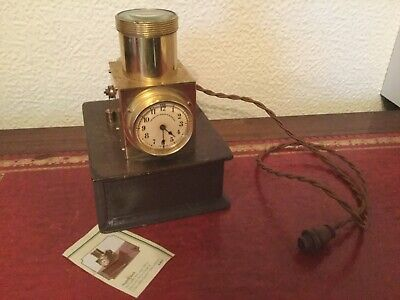 GENUINE ANTIQUE BRASS NIGHT CLOCK THE BAILEY BANKS & BIDDLE Co COLLECTORS CLOCK