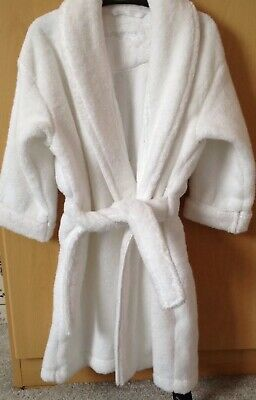 Brand New Boys/Girls White Dressing Gown Autograph Marks & Spencer Age 1-2 Years
