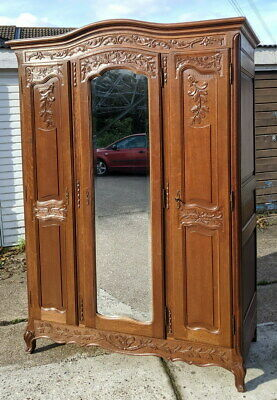 Impressive Antique French Armoire Wardrobe Rocaille