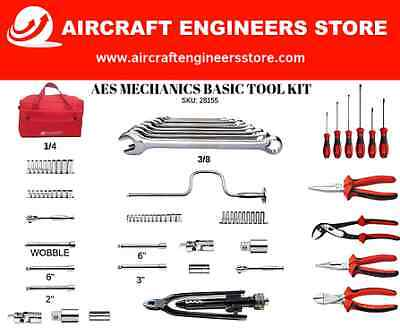 Aircrft Tools Engineers Kit ( Spanners, Sockets, Ratchets, Screwdrivers, Pliers)