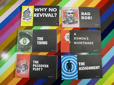 vtg 1970s underground comic lot of 6 Jack Chick Tracts - 1970, 71, 72 Revival