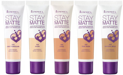 RIMMEL Stay Matte Liquid Mousse Foundation 30ml - CHOOSE SHADE - NEW Sealed