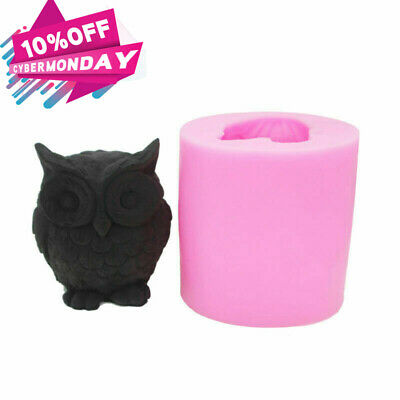 2 Pack Large Owl DIY Handmade Soap Mold Silicone Molds ~ US Seller