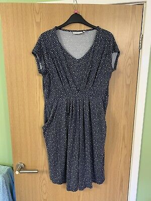 Jojo Maman Bebe Blue Maternity Nursing Dress Size M, 12 - 14