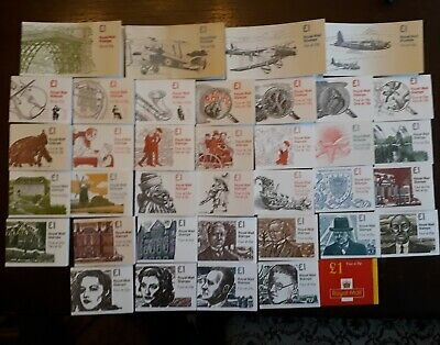 £1 FOLDED BOOKLETS, 1979-2000 (FH1 to FH44) Individually priced.