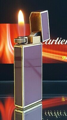 Cartier Lighter Gold Red Lacquer Functional Warranty Rare Timeless Stunner Y02