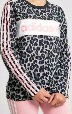Girls Adidas Originals Long Sleeved Animal Top - Bnwt Ages 3-4 Years  Rrp £24