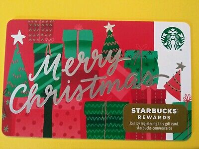 "Starbucks gift card 2019 ""MERRY CHRISTMAS"" No Value. New. Beautiful Card"