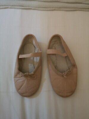 Girls Size 11 Pink Leather Ballet Shoes